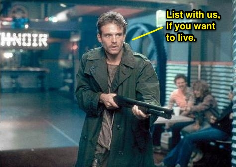 Kyle Reese defends Sarah in the Terminator.