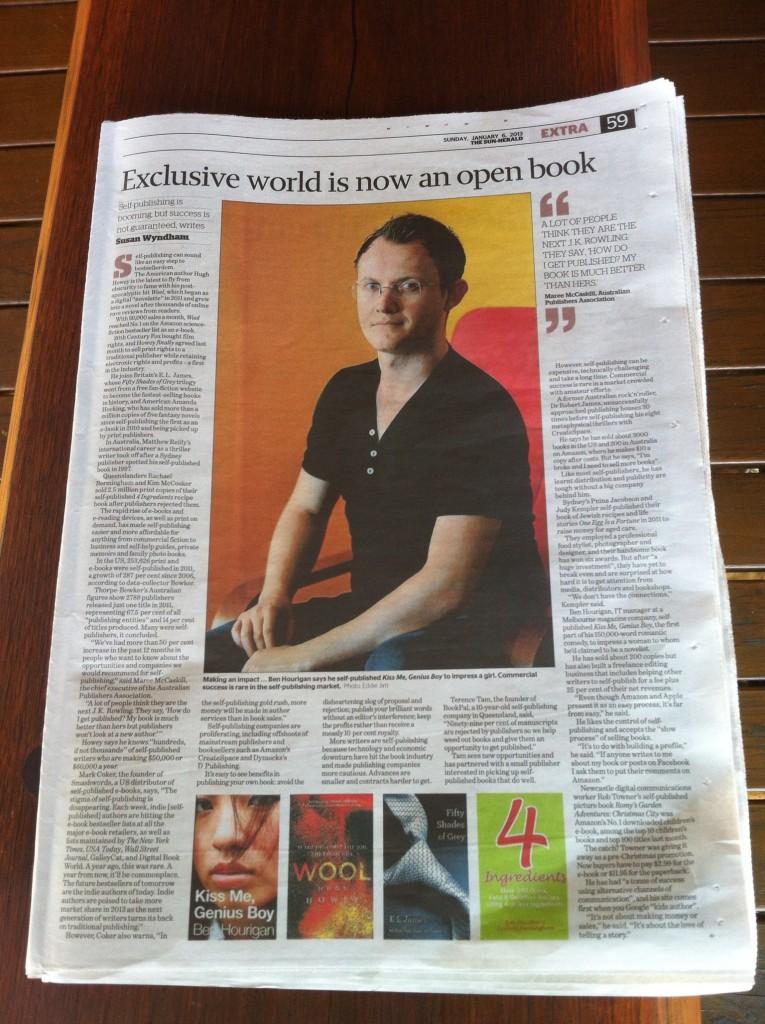 Ben Hourigan and Kiss Me, Genius Boy in the Sydney Morning Herald