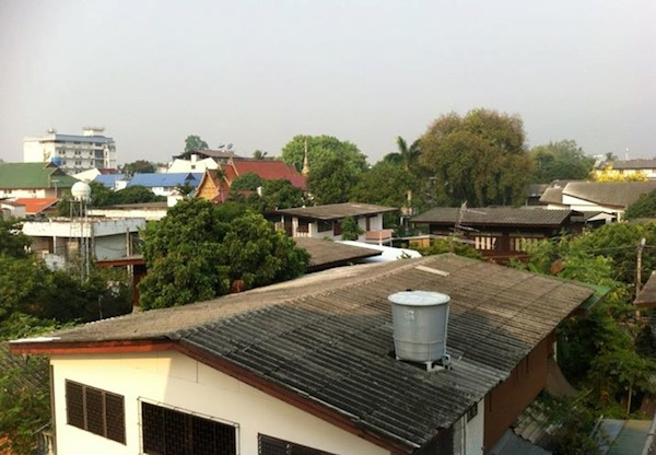 View from Sripoom House, Chiang Mai