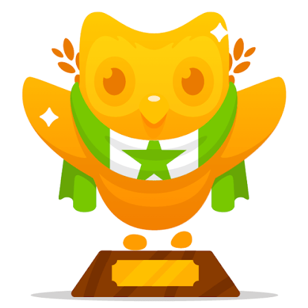 Duolingo's golden owl for Esperanto